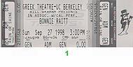 Bonnie Raitt 1990s Ticket