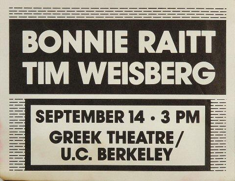 Bonnie Raitt Handbill