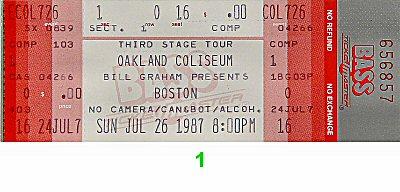 Boston1980s Ticket