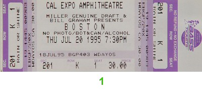 Boston 1990s Ticket