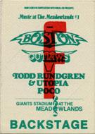 Boston Backstage Pass