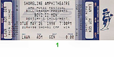 Boyz II Men 1990s Ticket
