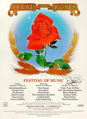 Bread and Roses Festival Poster