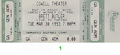 Brett Butler 1990s Ticket