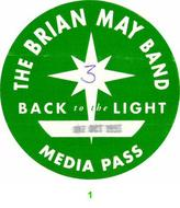 Brian May Band Backstage Pass