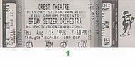 Brian Setzer Orchestra 1990s Ticket