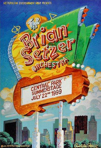 Brian Setzer Orchestra Poster