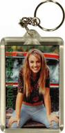 Britney Spears Plastic Keychain