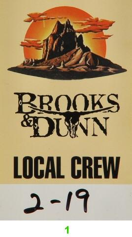Brooks &amp; Dunn Backstage Pass