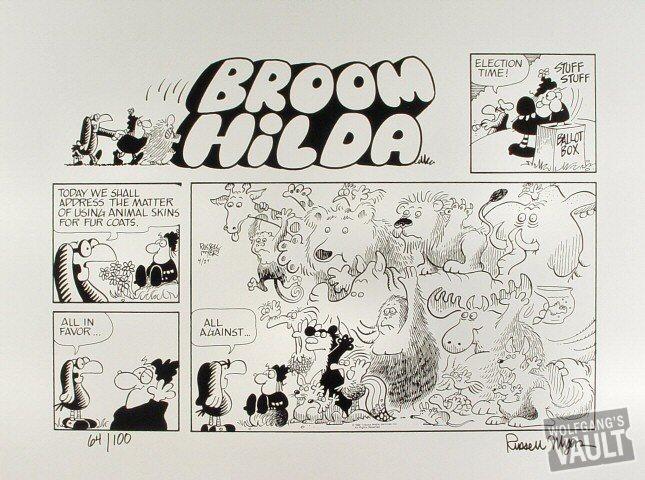 Broom Hilda Cartoon Poster