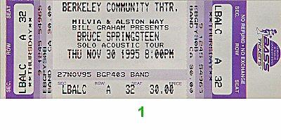 Bruce Springsteen1990s Ticket