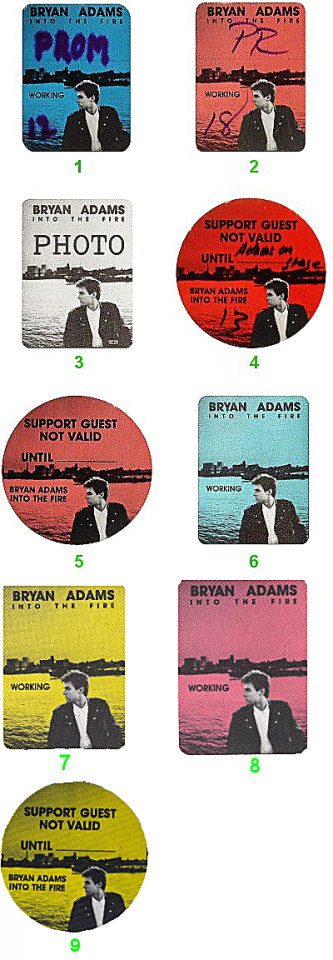 Bryan Adams Backstage Pass