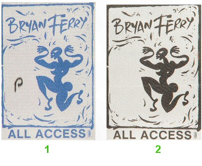 Bryan Ferry Backstage Pass