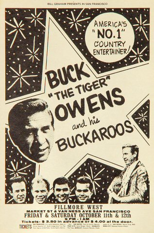 Buck Owens and the Buckaroos Handbill