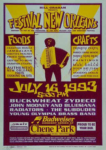 Buckwheat Zydeco Poster