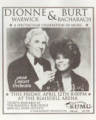 Burt Bacharach Handbill