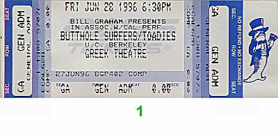 Butthole Surfers1990s Ticket