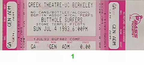 Butthole Surfers Vintage Ticket