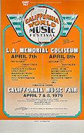 California World Music Festival Poster