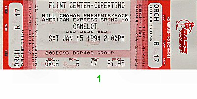 Camelot1990s Ticket