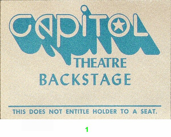Capitol Theatre Backstage Pass Backstage Pass