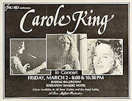 Carole King Handbill