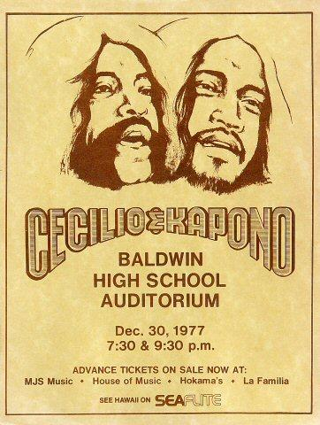 Cecilio and Kapono Handbill