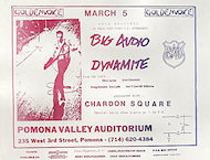 Big Audio Dynamite Handbill