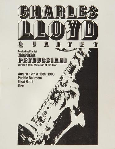 Charles Lloyd Quartet Handbill