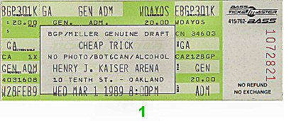 Cheap Trick1980s Ticket