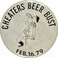 Cheaters Beer Bust Pin