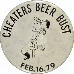 Cheaters Beer Bust Vintage Pin