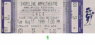 Cher1990s Ticket