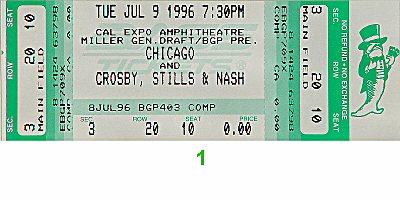 Chicago1990s Ticket