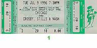 Crosby, Stills & Nash 1990s Ticket
