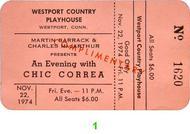 Chick Corea Vintage Ticket