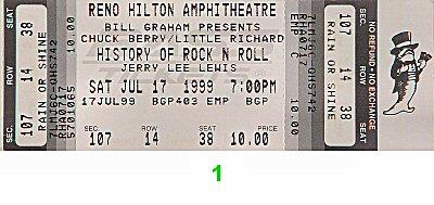 Chuck Berry1990s Ticket