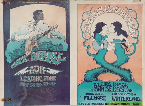 Crosby, Stills, Nash & Young Postcard