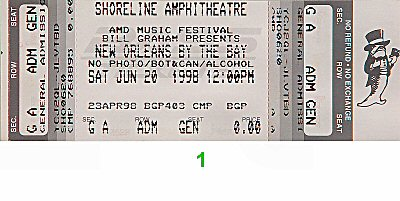 "Clarence ""Gatemouth"" Brown 1990s Ticket"