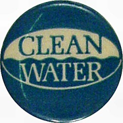 Clean Water Vintage Pin