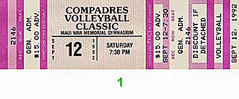 Compadres Volleyball Classic 1990s Ticket