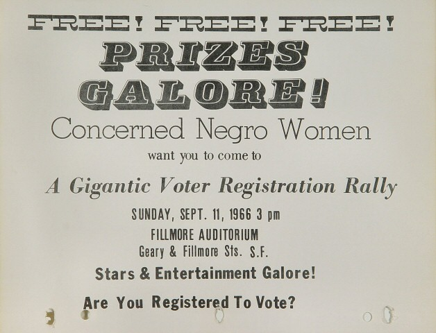 Concerned Negro Voter Registration Rally Handbill
