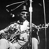 """Mississippi"" Fred McDowell concert at Newport Folk Festival on 27 Jul 68"