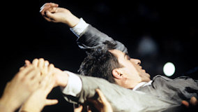 Peter Gabriel at Giants Stadium on Jun 15, 1986