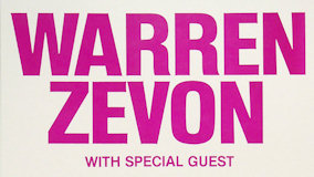 Warren Zevon at Capitol Theatre on Oct 1, 1982