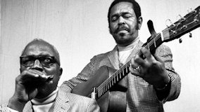 Sonny Terry & Brownie McGhee at New England College on Nov 12, 1972