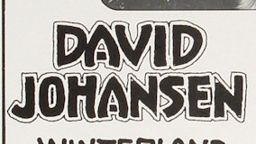 David Johansen at Palladium on Feb 16, 1979