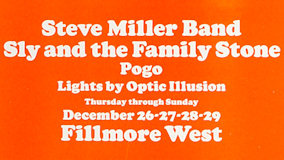 Steve Miller Band at Fillmore West on Dec 29, 1968