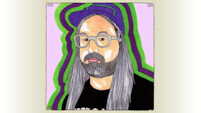 J Mascis at Big Orange Studios on Jun 6, 2011
