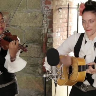 Mariachi Flor de Toloache at Paste Ruins at Newport Folk Festival on Jul 26, 2013